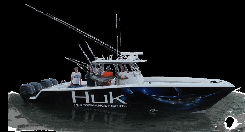 HUK performance fishing boat wrap image